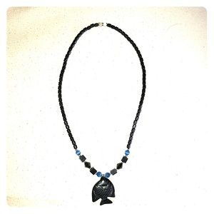 Jewelry - Hematite Fish Necklace